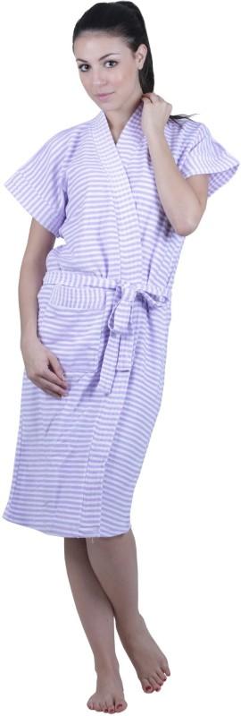 Vixenwrap Lavender Free Size Bath Robe(1 bathrobe, For: Women, Lavender)