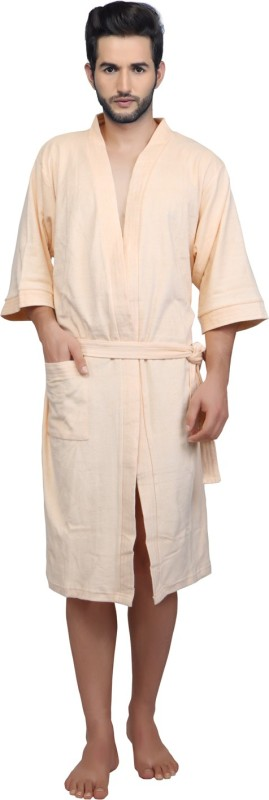 Mark Home Peach XL Bath Robe(Bath Robe, For: Men, Peach)
