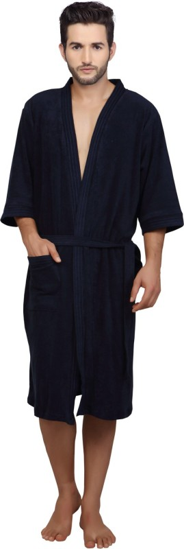 Mark Home Blue XL Bath Robe(Bath Robe, For: Men, Blue)