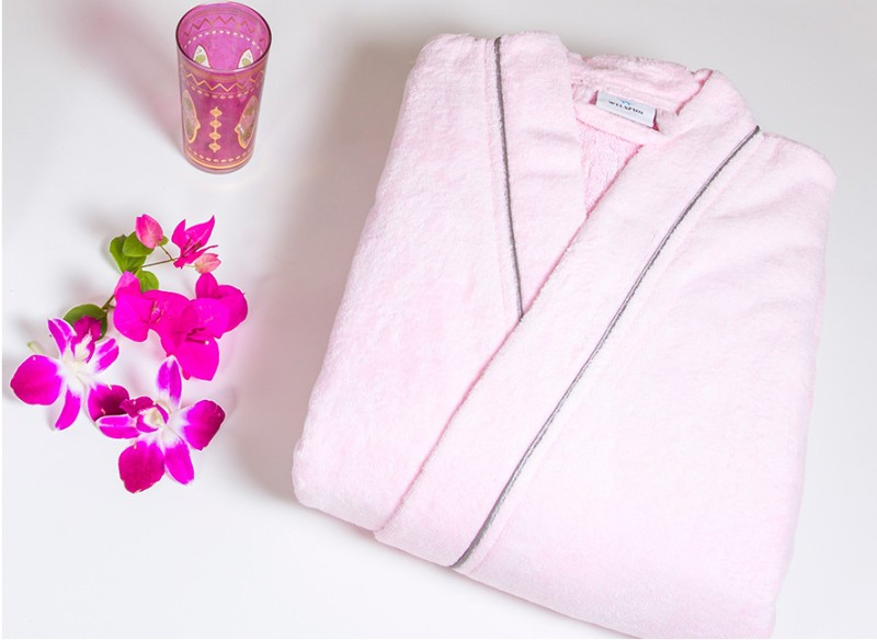 Spaces by Welspun Pink Small Bath Robe(1 Bath Robe, For: Boys, Pink)