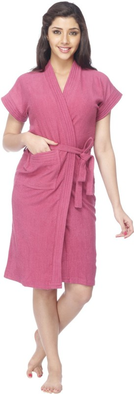 Vixenwrap Taffy Pink Free Size Bath Robe(1 Bath Robe, 1 Belt, For: Women, Taffy Pink)