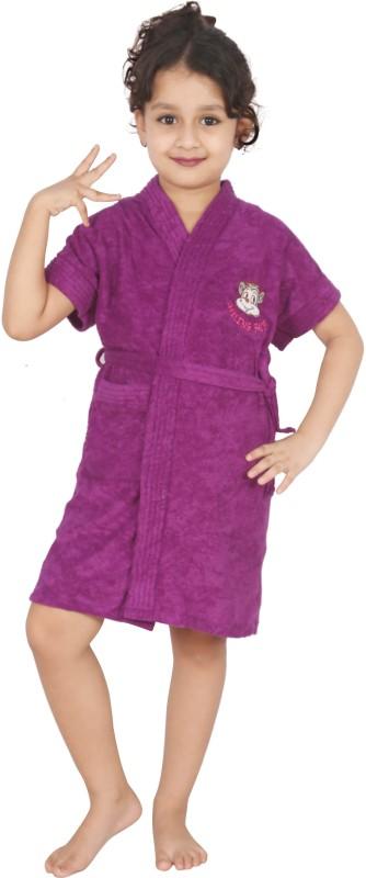 Superior Purple Small Bath Robe(Bath Robe, For: Boys, Purple)