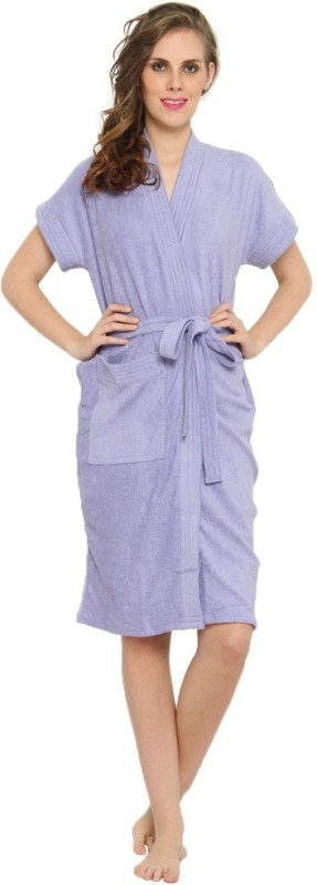 FeelBlue Lavender Free Size Bath Robe(Bath Robe, For: Men & Women, Lavender)