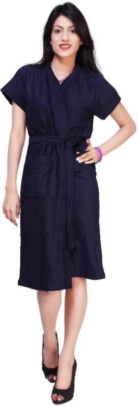 Carrel Dark Blue XL Bath Robe(1 Bath Robe, For: Women, Dark Blue)