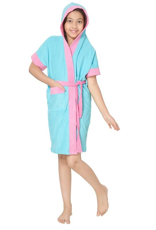 Sand Dune Blue Free Size Bath Robe(1 Kids Bathrobe, For: Baby Boys & Baby Girls, Blue)