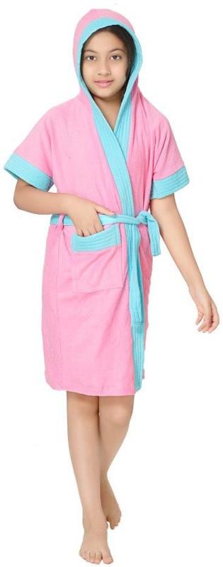 Sand Dune Pink Free Size Bath Robe(1 Kids Bathrobe, For: Baby Boys & Baby Girls, Pink)