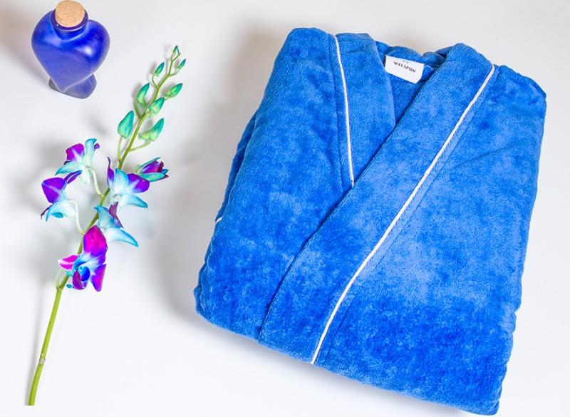 SPACES Blue Large Bath Robe(1 Bath Robe, For: Boys, Blue)