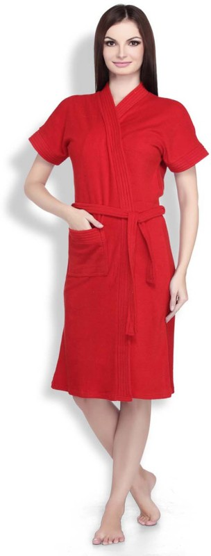 Sand Dune Red Large Bath Robe(1 Bath Robe, For: Women, Red)