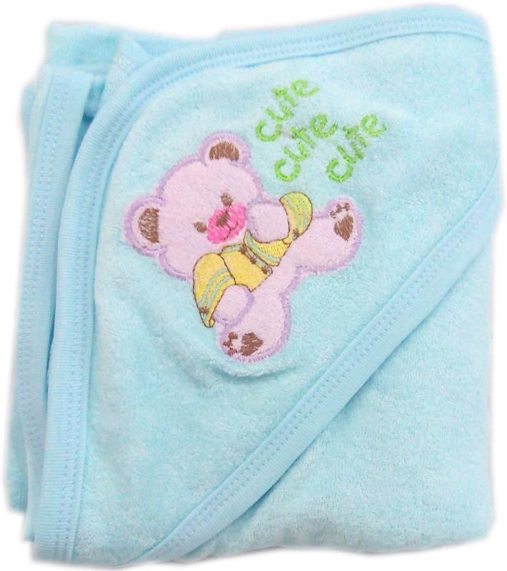 Babys Clubb Cotton 2400 GSM Bath Towel(Blue, Dark Blue)