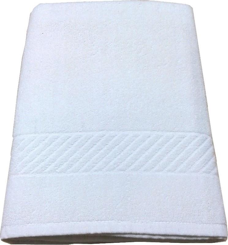 JTF Cotton 350 GSM Bath Towel(White)