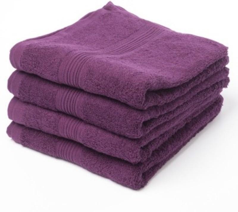 Richiworld Cotton 400 GSM Bath Towel(Pack of 4, Peach)