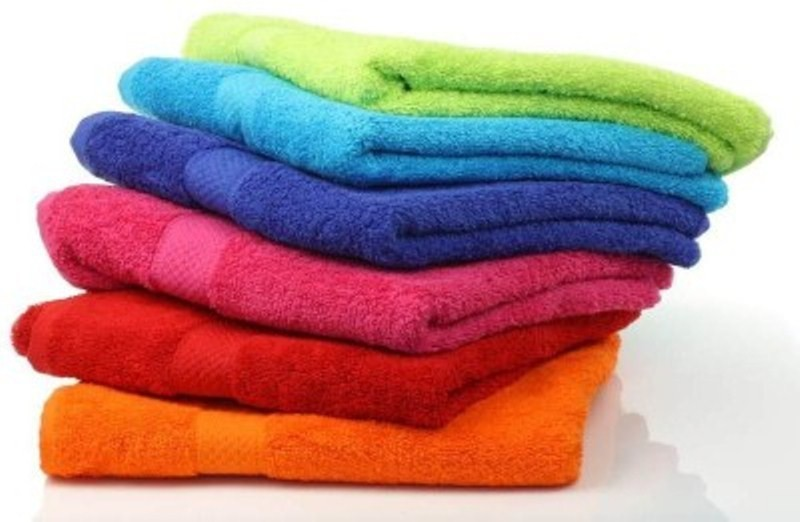 Richiworld Cotton 600 GSM Bath Towel(Pack of 6, Multicolor)