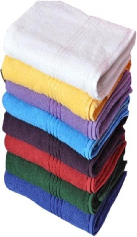 Richiworld Cotton 800 GSM Bath Towel(Pack of 8, Multicolor)