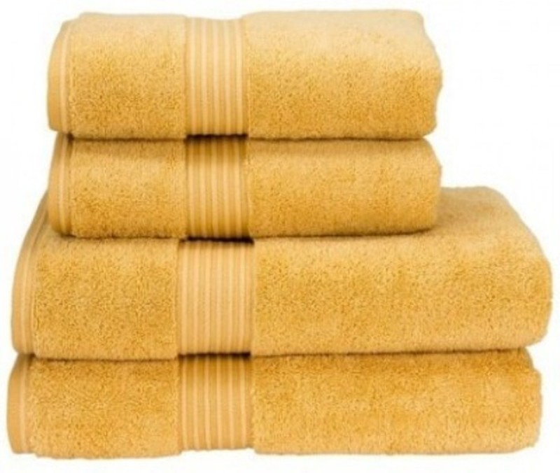Richiworld Cotton 400 GSM Bath Towel(Pack of 4, Yellow)