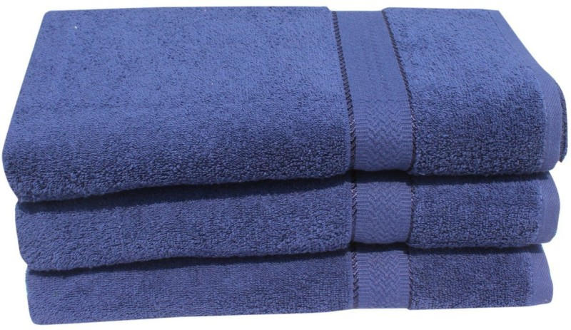 Mandhania Cotton 450 GSM Bath Towel(Pack of 3, Dark Blue)