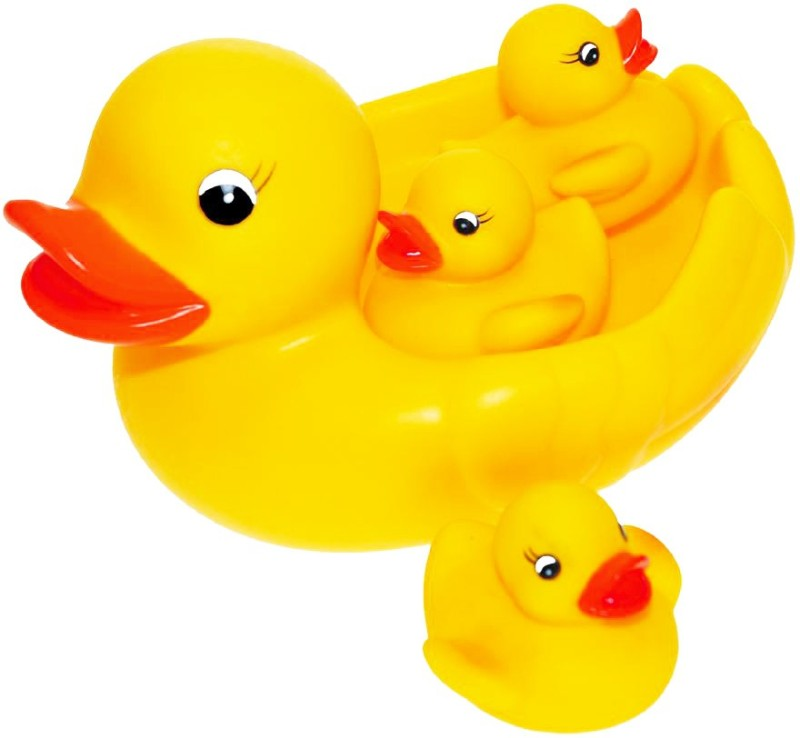 Arvin Mother Duck With Three Kids Bath Toy(Yellow)