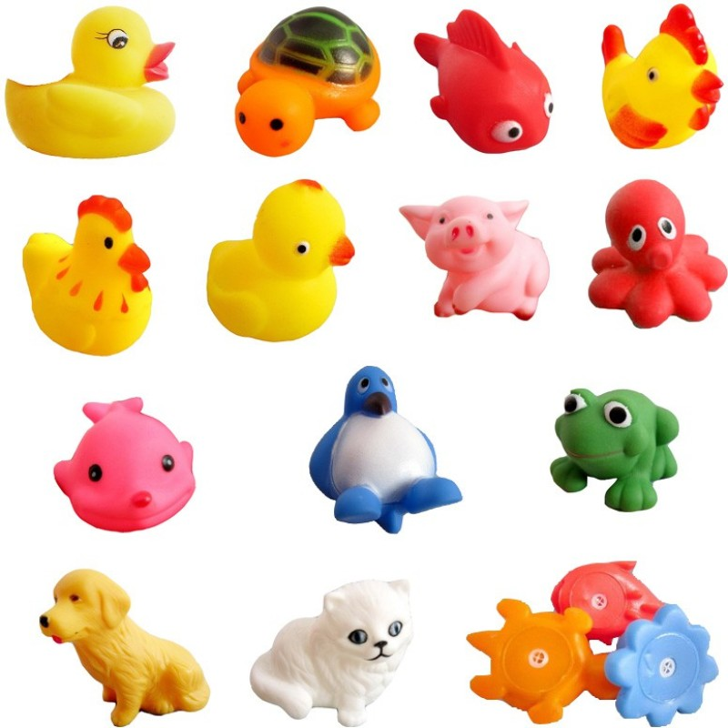 Lovely Baby Kuhu Creations Baby Swimming 13 Pcs Sounding Bath Toy(Multicolor)