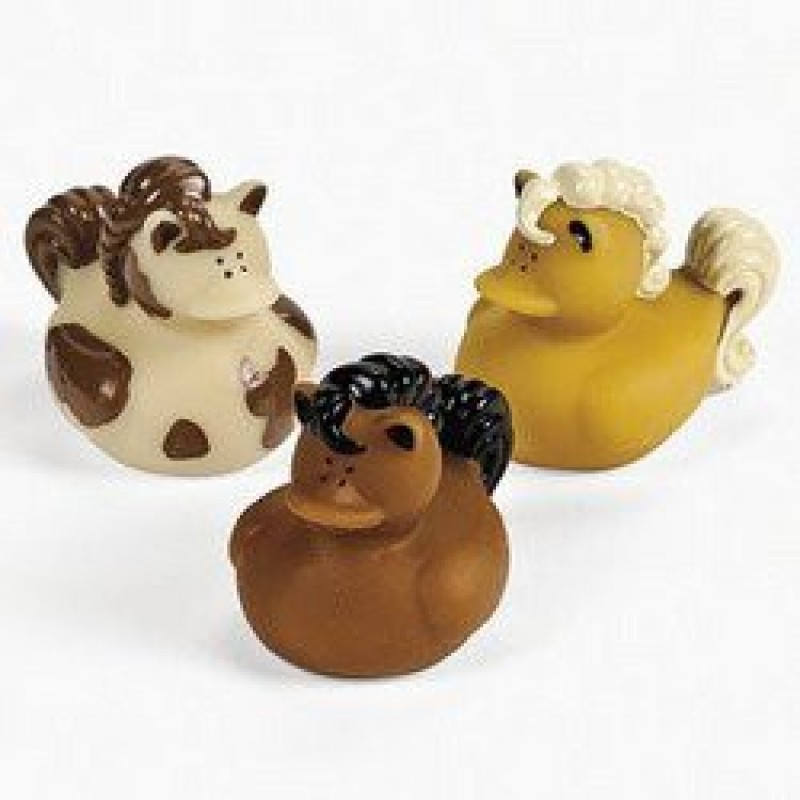 Fun Express 12 Horse Rubber Duckys Bath Toy(Multicolor)