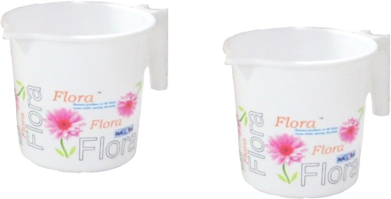 Flora Plastic Bath Mug(White 1)