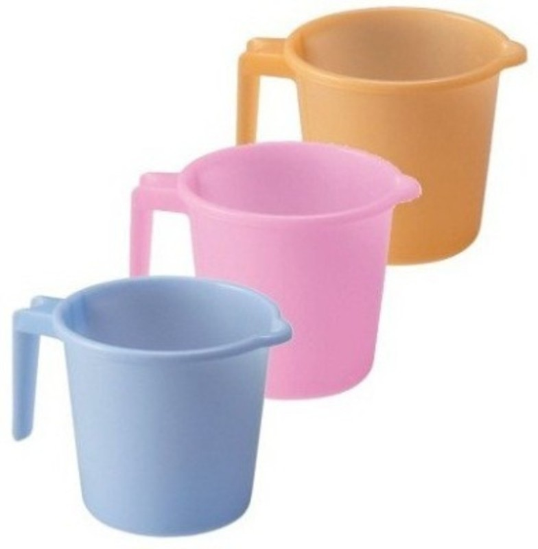 Gruvi Enterprises Plastic Bath Mug(Multicolor 1)
