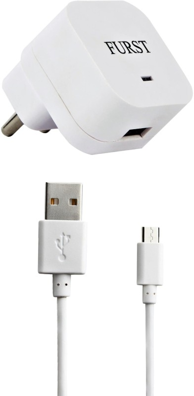 Furst 1.5 Amp. USB Adapter with Cable (1 Mtr) For Lenovo Vibe K4 Note Mobile Charger(White)