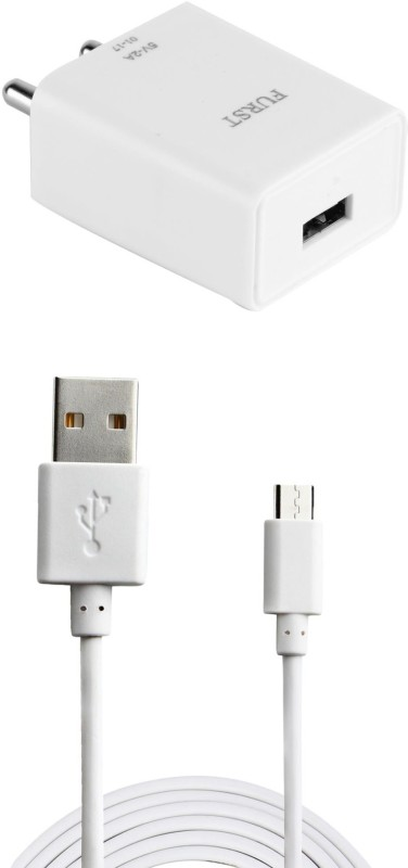 Furst 2A. Fast Charger with Cable (1 Mtr) For Xiaomi Redmi Note Mobile Charger(White)