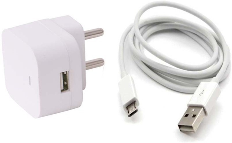 Trost Wall Adapter with 10 ft Extra long Micro USB Cable For Lnvo K4 nt Mobile Charger(White)