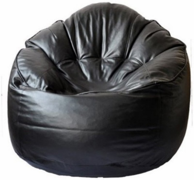 Fab Homez Medium Bean Chair Cover(Black)