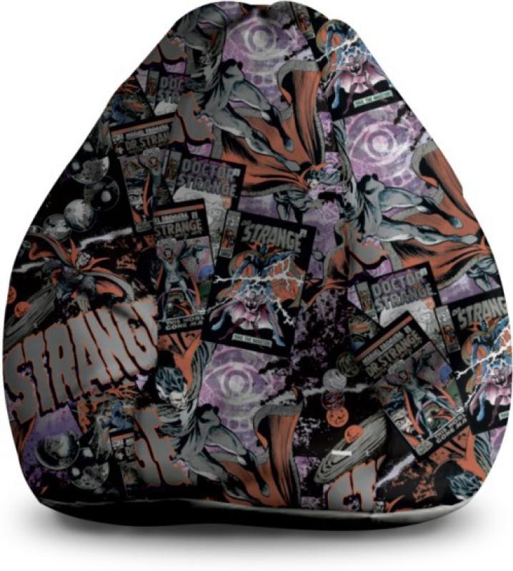 Awesome Marvel Xxl Bean Bag Cover Orange White Machost Co Dining Chair Design Ideas Machostcouk