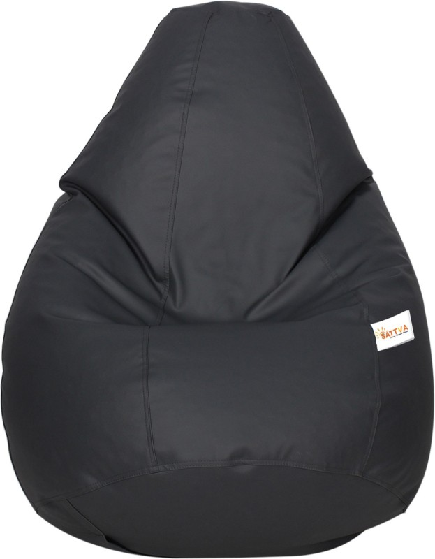 Sattva XXL Bean Bag Cover(Grey)