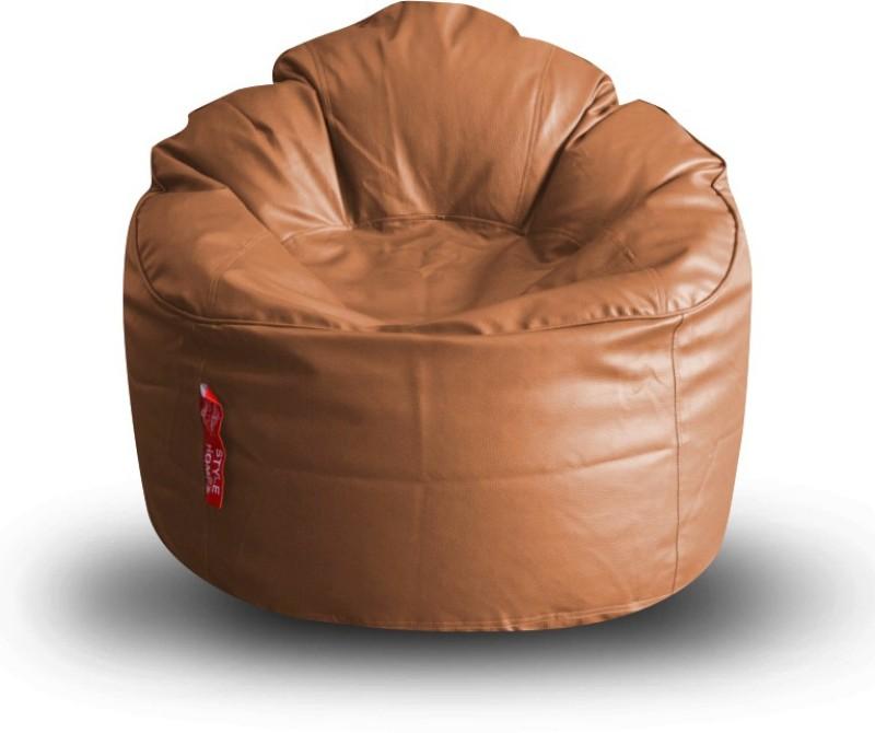 Style Homez XXXL Modern Mooda Rocker XXXL Size Tan Color with Beans Lounger Bean Bag With Bean Filling(Tan)