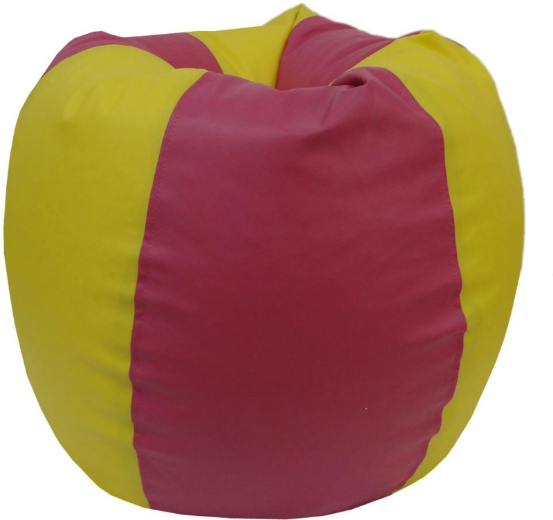 ORKA XXXL Bean Bag Cover (Without Beans)(Yellow, Pink)