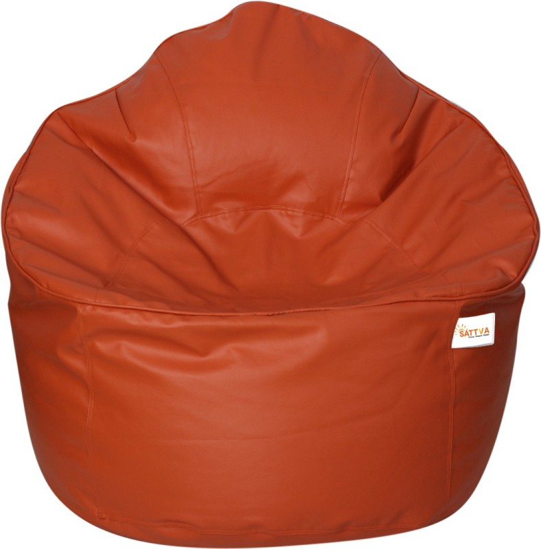 Sattva XXXL Bean Bag Cover(Orange)