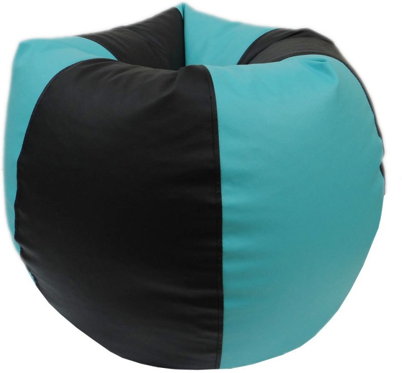 ORKA XXL Bean Bag Cover (Without Beans)(Green, Black)
