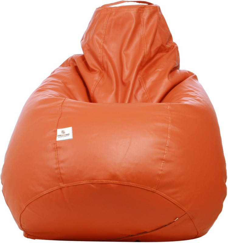 Star XL Bean Bag Cover (Without Beans)(Orange)