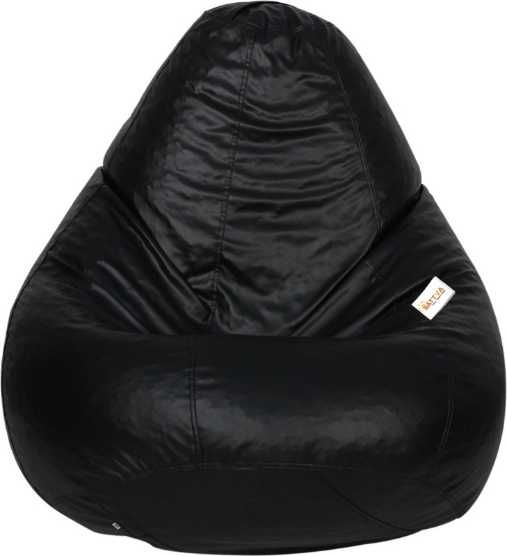 Sattva XXL Bean Bag Cover(Black)