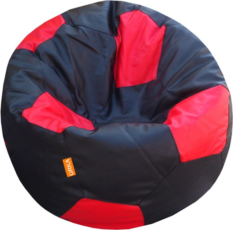 ORKA XL Bean Bag Cover (Without Beans)(Red)