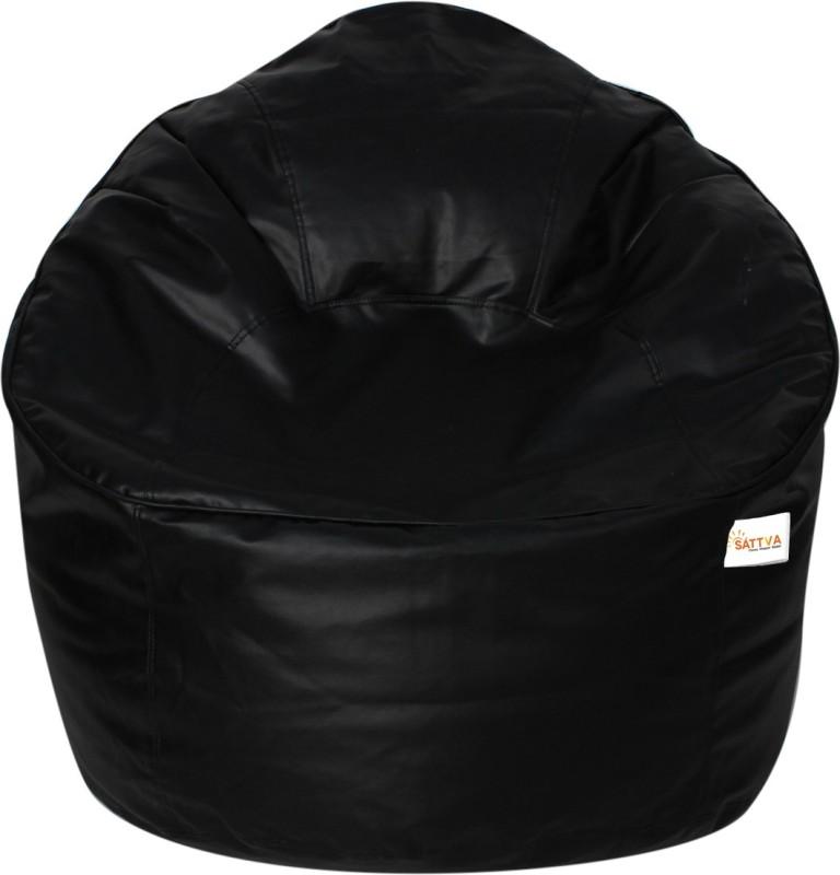 Sattva XXXL Bean Bag Cover(Black)