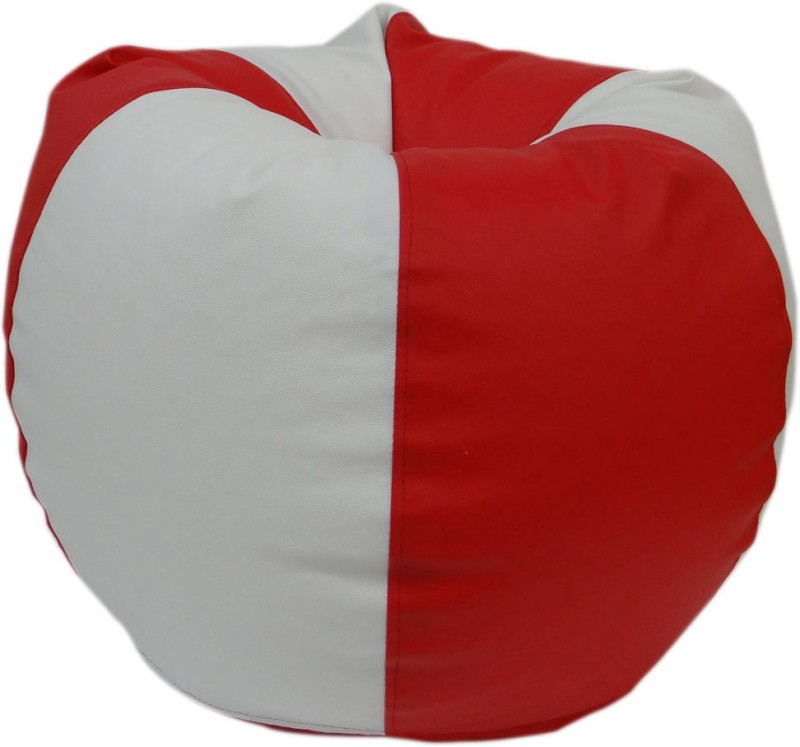 ORKA XL Bean Bag Cover (Without Beans)(Red, White)