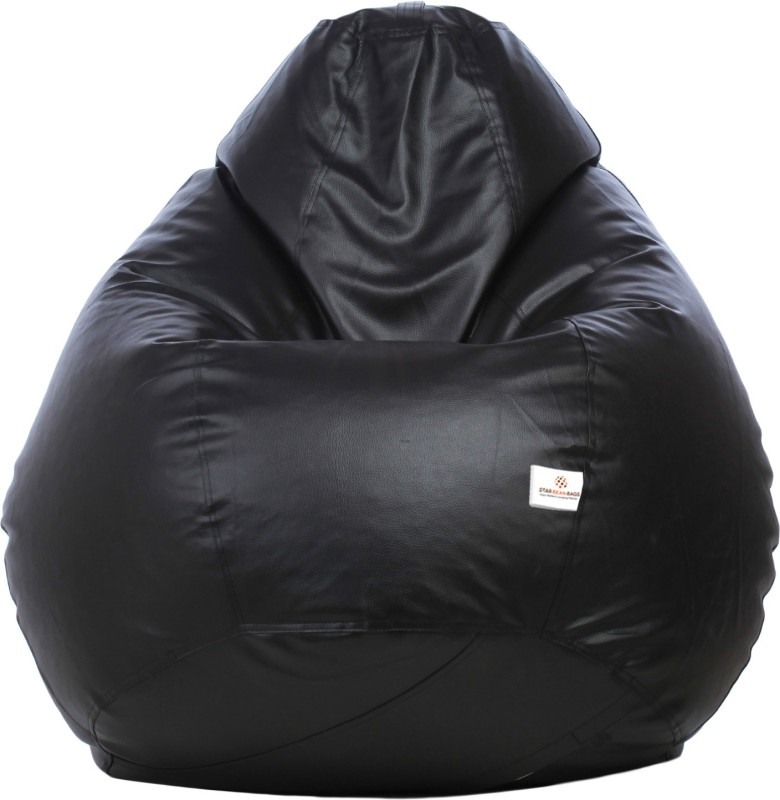 Star XL Bean Bag Cover (Without Beans)(Black)