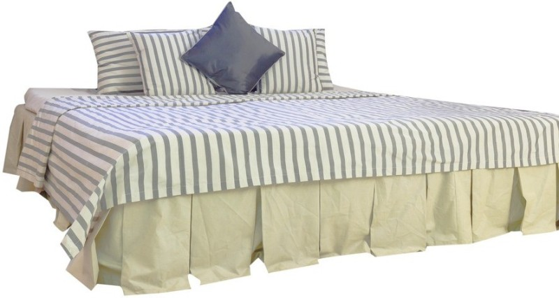 MABA Polycotton Double Bed Cover(Grey)
