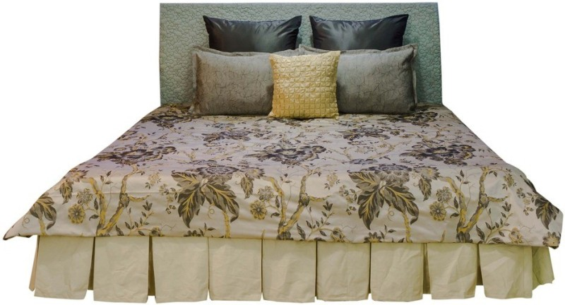 MABA Jacquard Double Bed Cover(Beige)