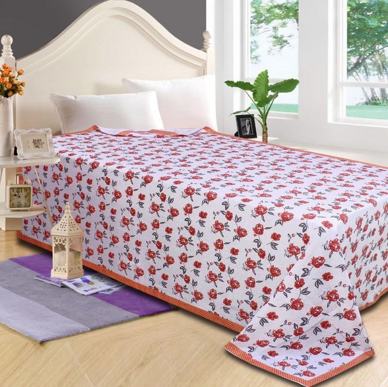 P.S Decor Platform Single Size Bed Skirt(red Frill)