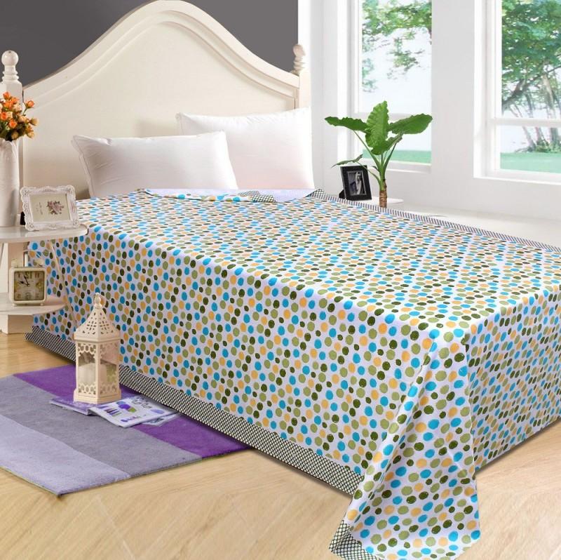 P.S Decor Platform Single Size Bed Skirt(green Frill)