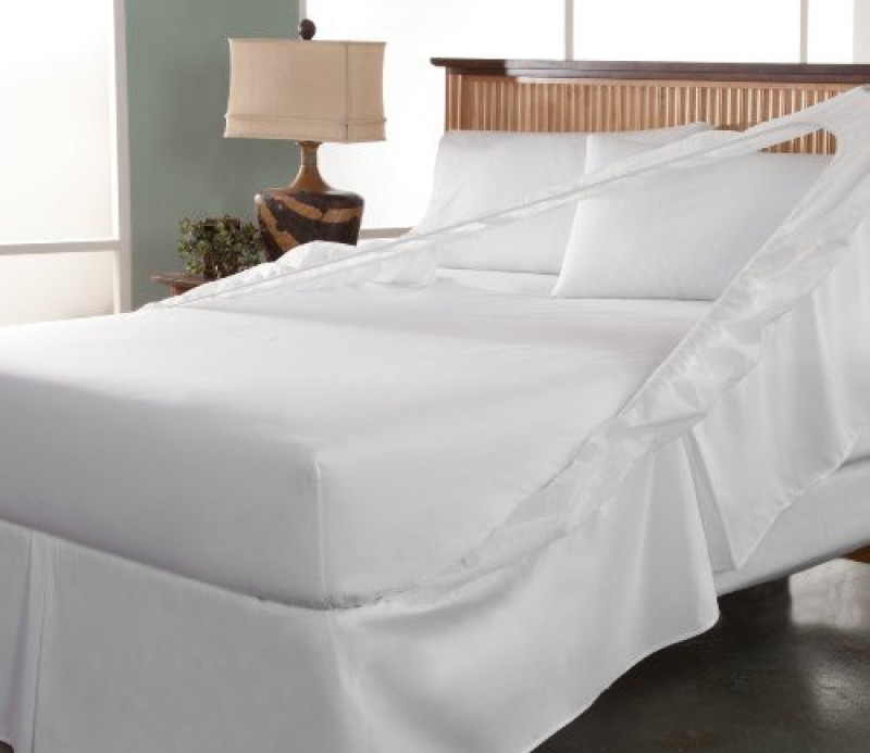 Perfect Fit Size Bed Skirt(White)