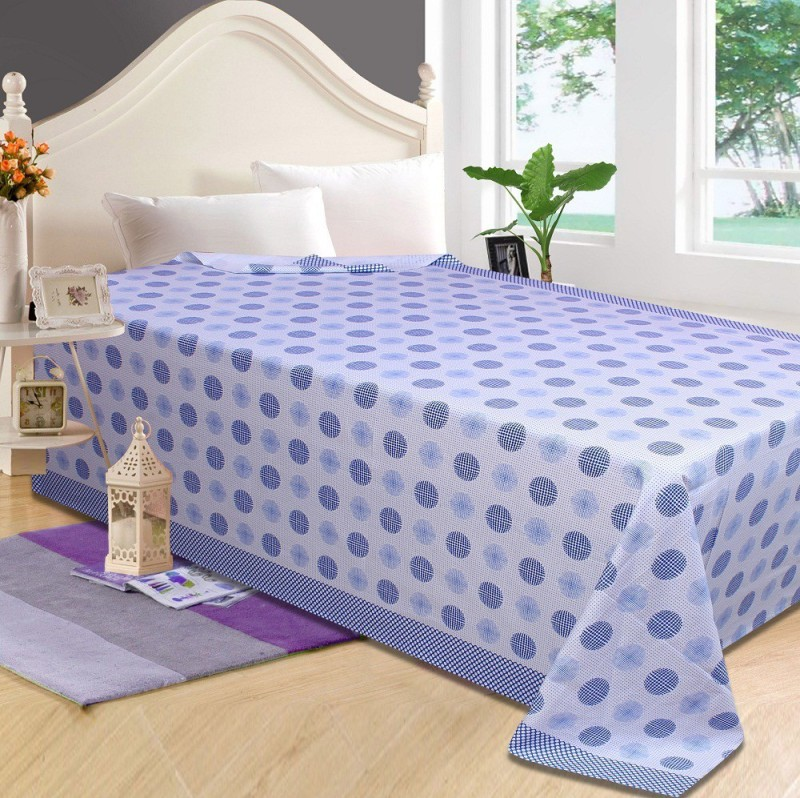 P.S Decor Platform Single Size Bed Skirt(blue Frill)