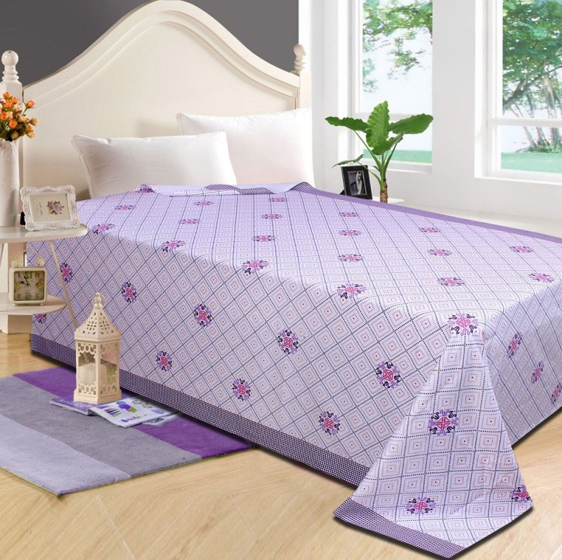 P.S Decor Platform Single Size Bed Skirt(purple Frill)