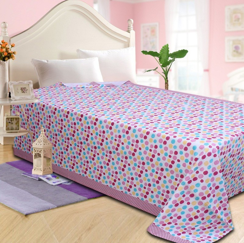 P.S Decor Platform Single Size Bed Skirt(multicolor Frill)