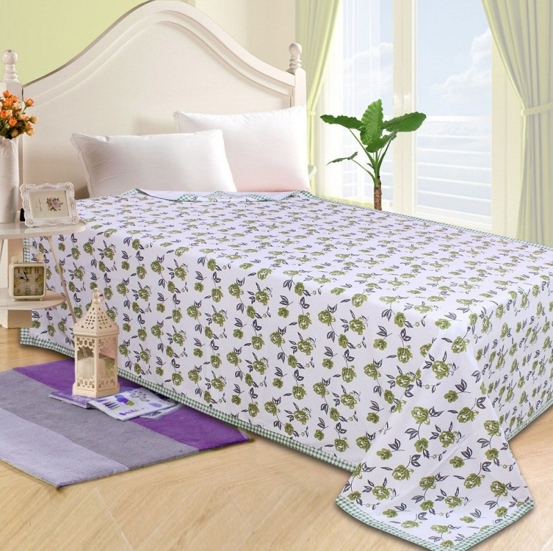 P.S Decor Platform Single Size Bed Skirt(Green Frill)
