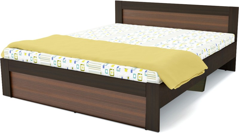 UNiCOS Martin King bed Without Storage Engineered Wood King Bed(Finish Color - Brown)